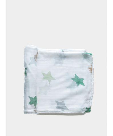 Organic Baby Swaddle Blanket - Stars