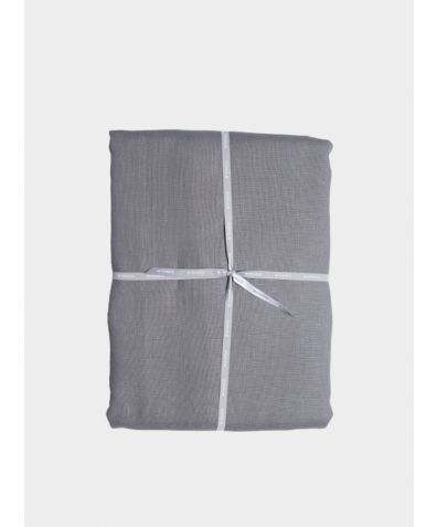 Stonewashed Linen Duvet Cover – Steel Grey