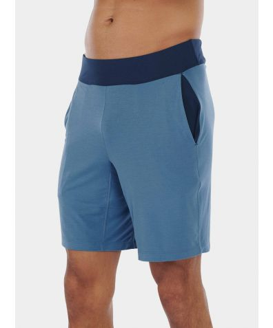 Mens Nattwell® Sleep Tech Shorts - Still Blue