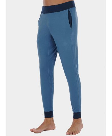 Mens Nattwell® Sleep Tech Cuff Trousers - Still Blue