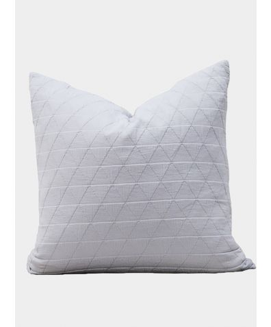 Stockholm Cotton Cushion - Silver Grey
