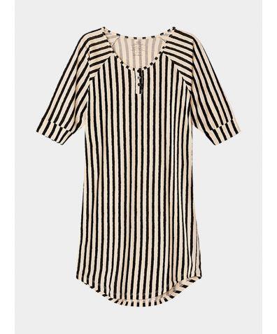Women's Everyday Organic Pima Cotton Nightgown - Stripe