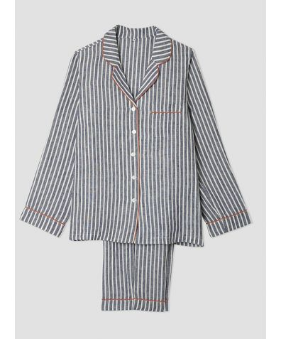 Mens Navy Stripe Pyjama Trouser - Set/Separate