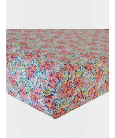 Liberty Print Fitted Sheet - Swirling Petals
