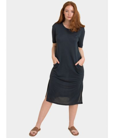 The Midi T-Dress - Stormy Blue