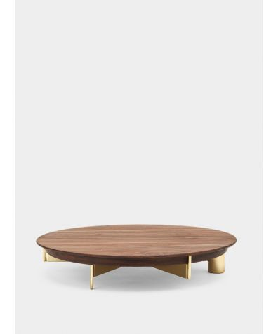 T4 | Cake Stand with Wood Top - Large