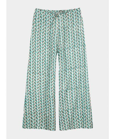 Mulberry Silk Lounge Trousers - Teal