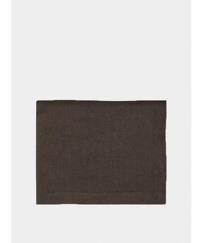 Linen Mitered Hem Tablecloth - Aubergine