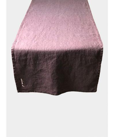 Linen Table Runner - Mauve
