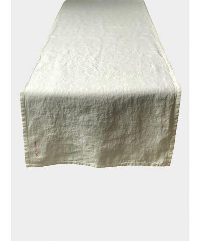 Linen Table Runner - White