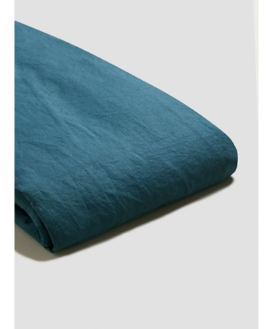 Linen Duvet Cover - Deep Teal