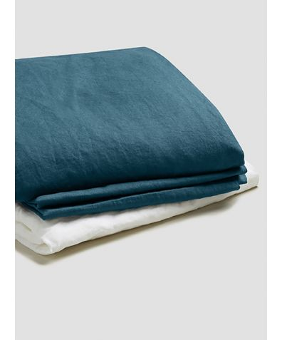 Natural French Flax Linen Basic Bundle - Deep Teal