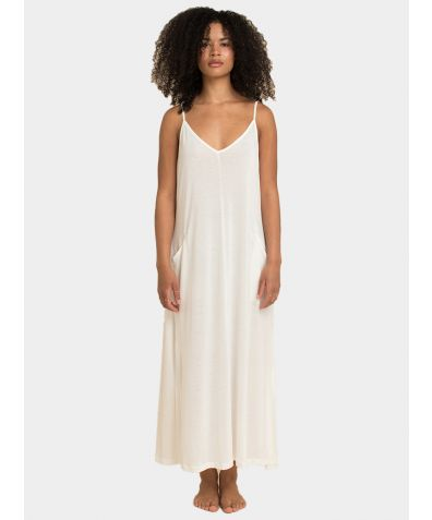 The Boho Slip Dress - Natural White