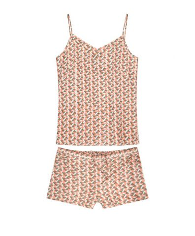 Mulberry Silk Camisole & Shorts - Coral