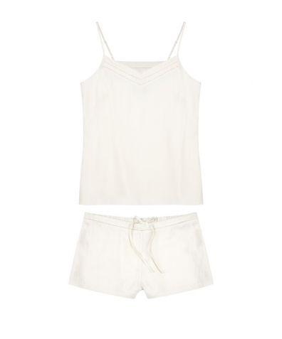 Mulberry Silk Camisole & Shorts - Ivory