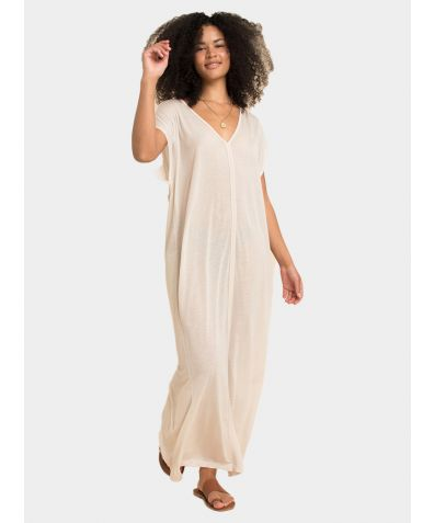 Kaftan Dress - Natural White