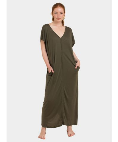Kaftan Dress - Olive Green