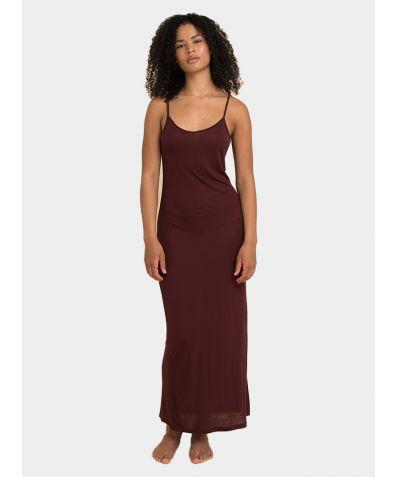 Tencel Slip Dress - Burgundy