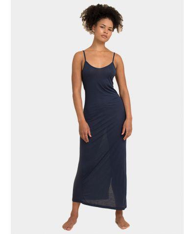 Tencel Slip Dress - Deep Sea Blue