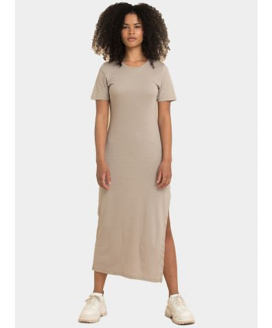 Organic Cotton T-Dress - Beige