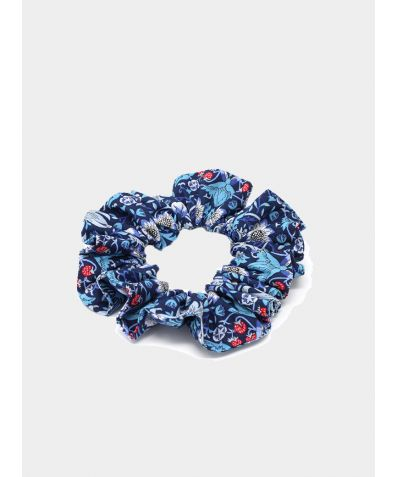 Liberty Print Hair Scrunchie - Strawberry Thief