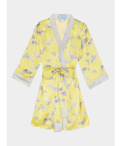 Lacewing Silk Robe - Yellow