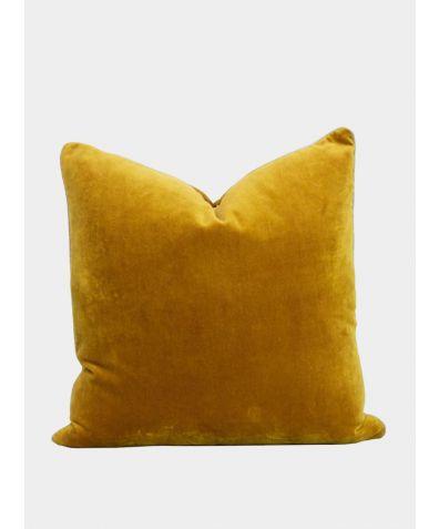Unari Velvet Cushion - Turmeric