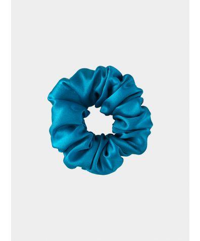 Silk Scrunchie - Turquoise