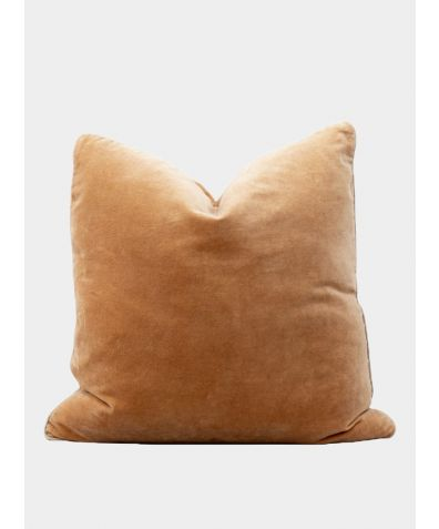 Unari Velvet Cushion - Camel