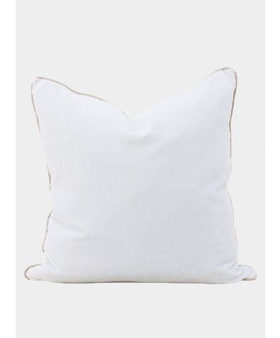Unari Velvet Cushion - Chalk