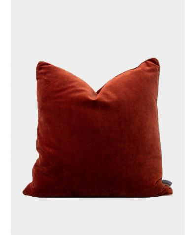 Unari Velvet Cushion - Rust