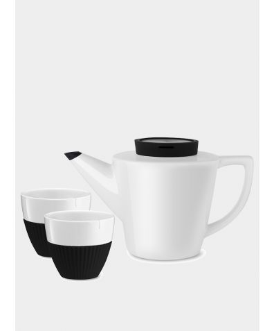 Infusion™ Porcelain Tea Set - Black