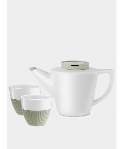 Infusion™ Porcelain Tea Set - Buttermilk