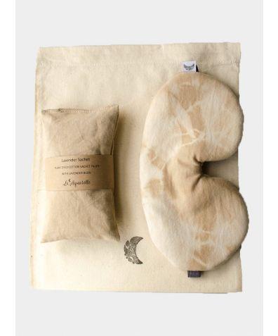 Sleep Mask & Lavender Sachet Sleep Set - Tea