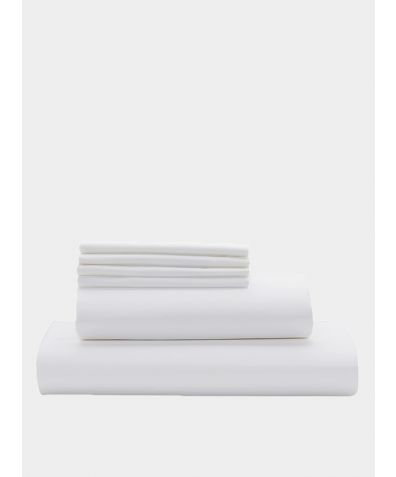 Deluxe 500 Thread Count Cotton Sateen Duvet Set - White