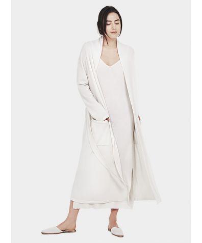 Versatile Long Cardigan - White