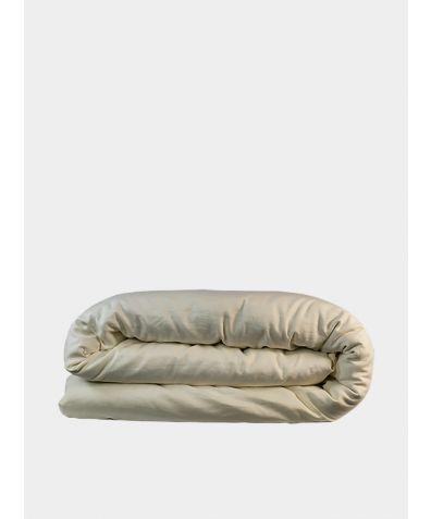 Bamboo & Linen Duvet Cover - Oyster White