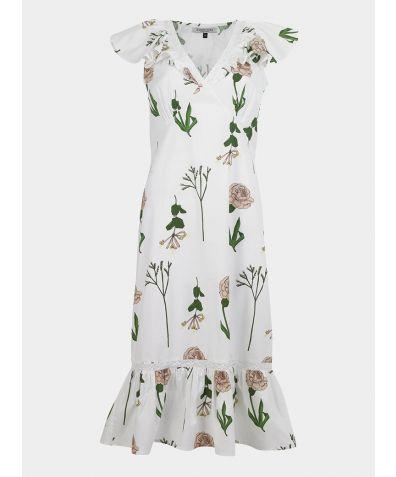 Women's Cotton Tiered Nightie - Market Print