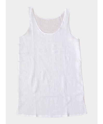 Linen Nightdress - White