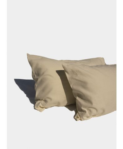 Linen & Bamboo Pillowcases (Pair) - Oyster White