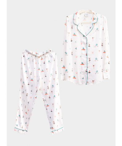 Organic Bamboo Pyjama Trouser Set - Nutcracker