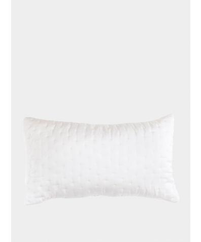 Embroidered Luxury Pillowcase - White