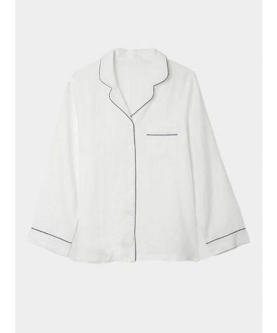 Linen Nightshirt - White