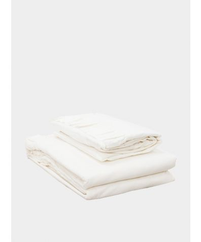 Malmo Ruffle 200 Thread Count Cotton Duvet Cover - White