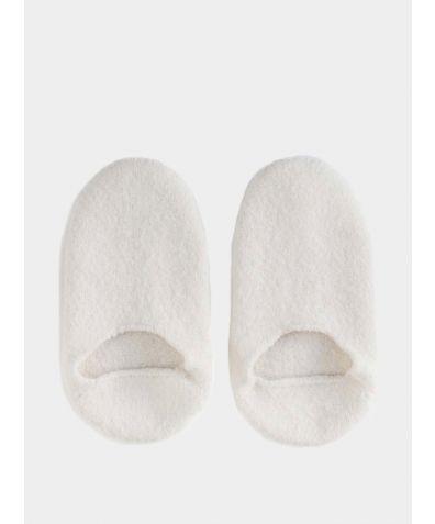 Snug Woollen Sock Slipper - White