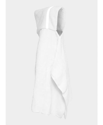 Hooded Cotton Towel - White
