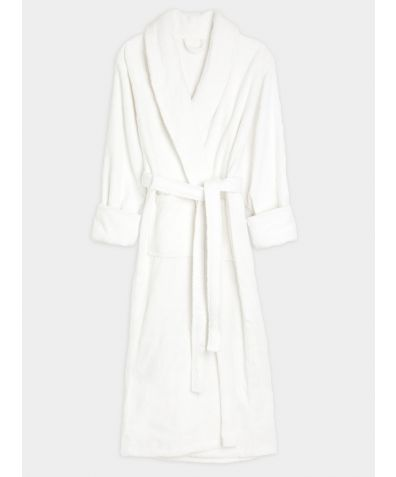 Full Length Turkish Cotton Bathrobe - White
