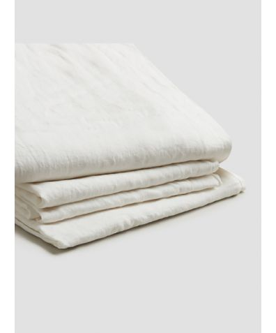 Natural French Flax Linen Basic Bundle - White