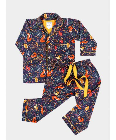 Women's Cotton Pyjama Trouser Set - Woodland