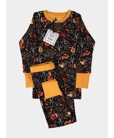 Children's Cotton Jersey Pyjama Trouser Set - Woodland